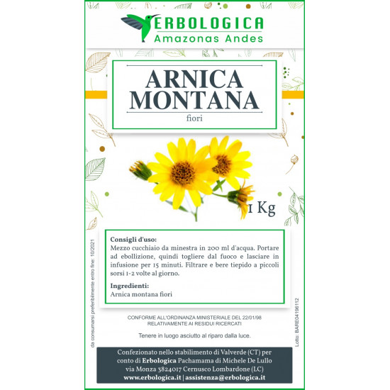 Arnica montana fiori tisana 500 grammi