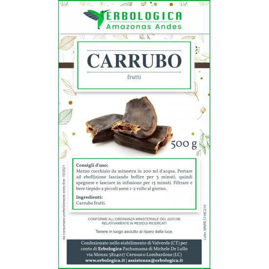 Carrubo frutti in polvere 500 grammi