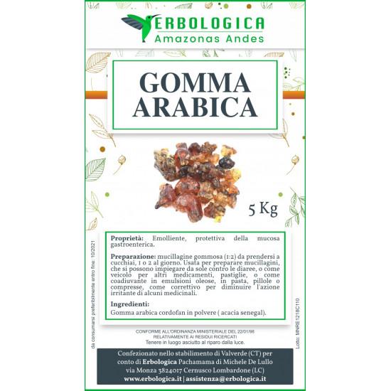Gomma arabica kordofan in polvere sacco da 5 kg
