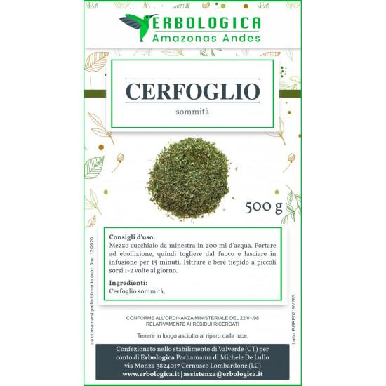 Cerfoglio pianta tisana 500 grammi