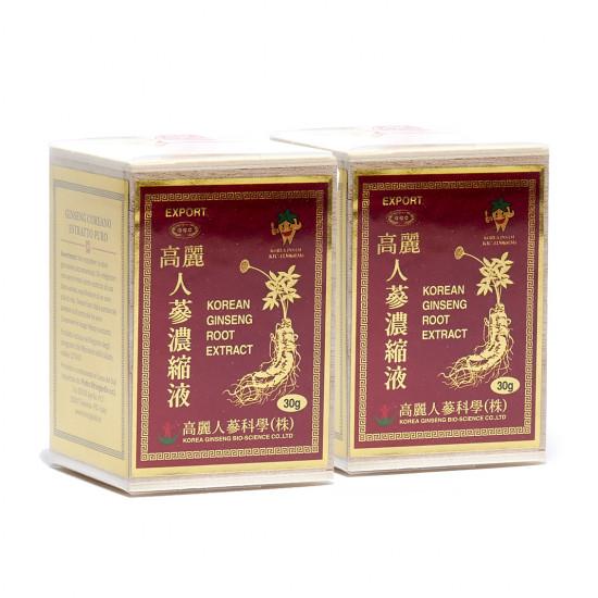 Ginseng coreano estratto puro 30 grammi due confezione