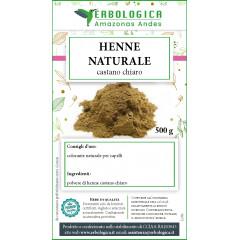Henne castano chiaro polvere naturale 500 grammi