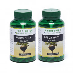 Maca nera in capsule gelatinizzata, 2 confezioni da 100 capsule