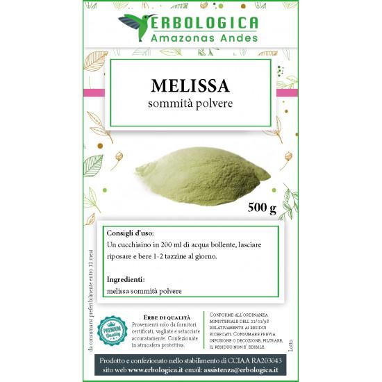 Melissa sommità in polvere tisana 500 grammi