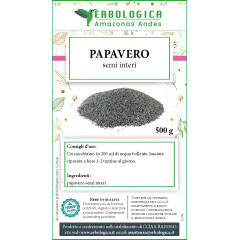 Papavero semi interi tisana 500 grammi