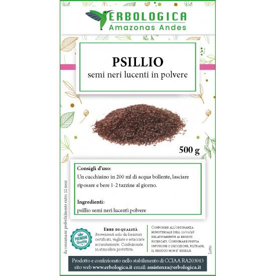 Psillio nero in polvere tisana 500 grammi