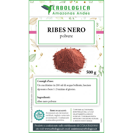 Ribes nero in polvere 500 grammi