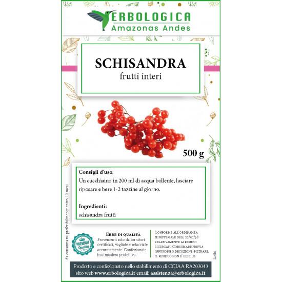 Schisandra frutti interi tisana 500 grammi