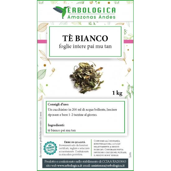 Tè bianco foglie intere mui pai 1 kg