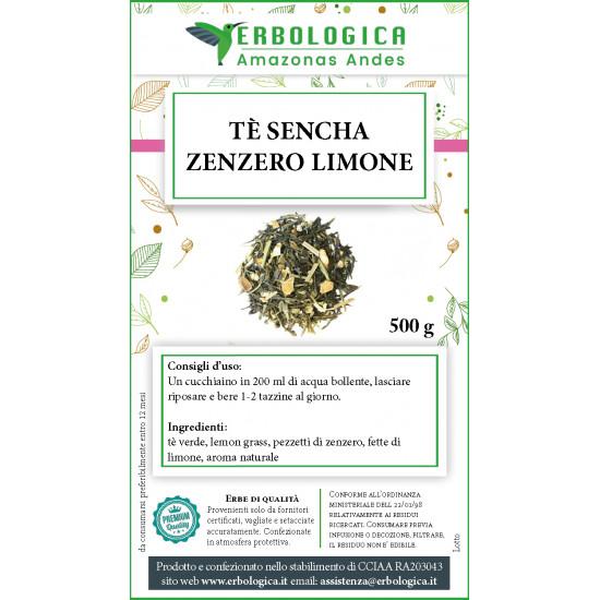 Tè sencha zenzero e limone tisana 500 grammi