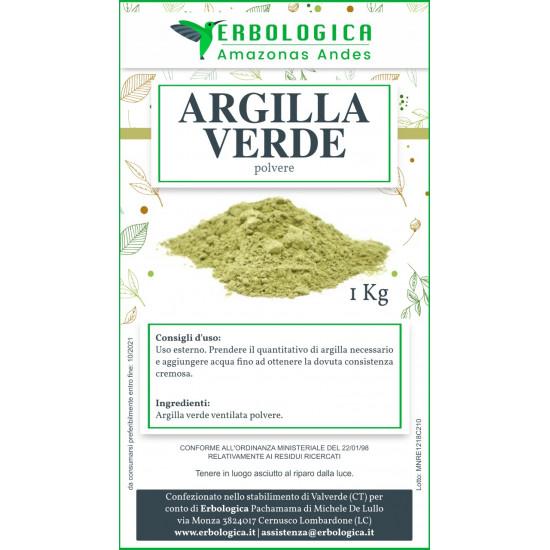 Argilla verde polvere ventilata 1 kg