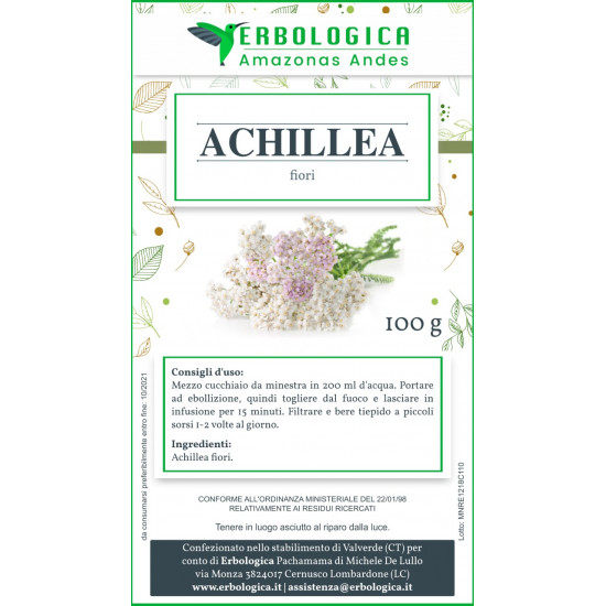 Achillea tisana 100 grammi