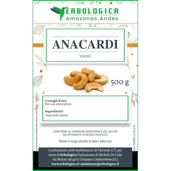 Anacardi tostati confezione da 500 grammi