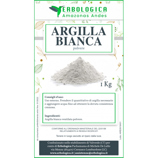 Argilla bianca ventilata 1 kg