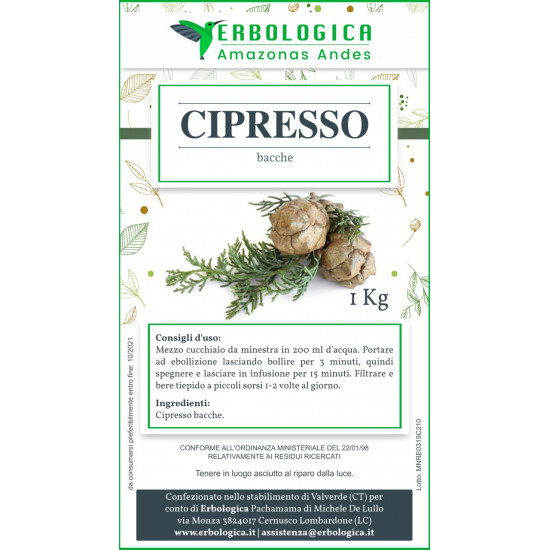 Cipresso bacche tisana 1 kg