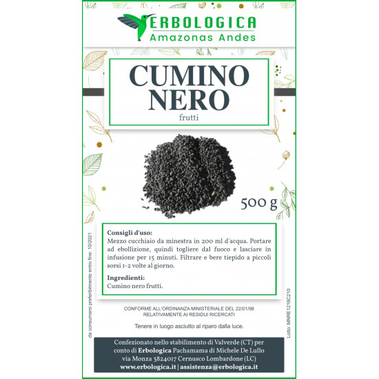Cumino nero semi 500 grammi