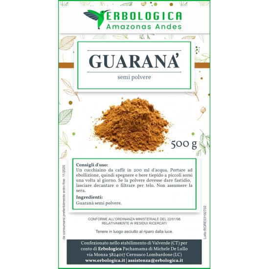 Guarana semi in polvere 500 grammi