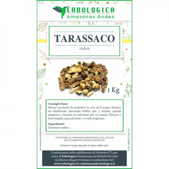 Tarassaco radice tisana confezione 1 kg