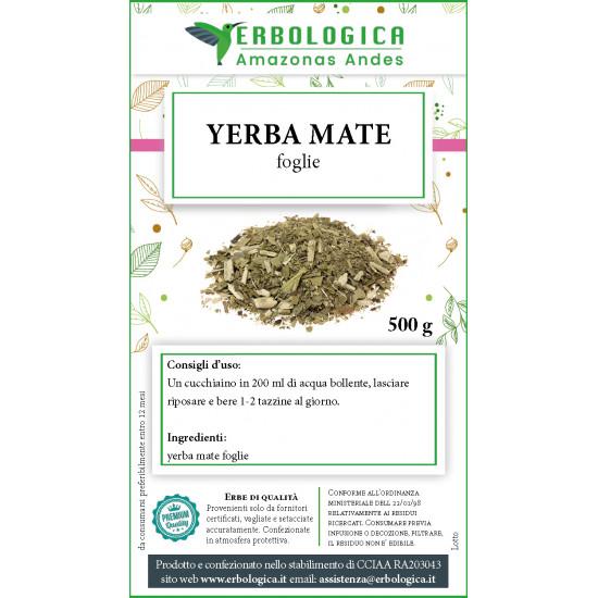yerba mate foglie confezione da 500 grammi