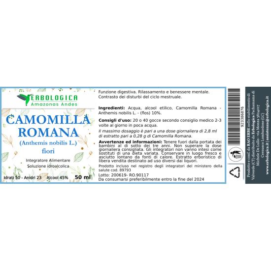 Camomilla romana soluzione idroalcolica 50 ml