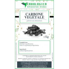 Carbone vegetale polvere 1 Kg uso alimentare