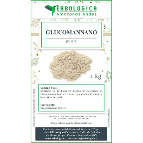 Glucomannano radice polvere 500 grammi