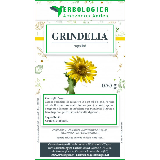 Grindelia capolini tisana 500 grammi