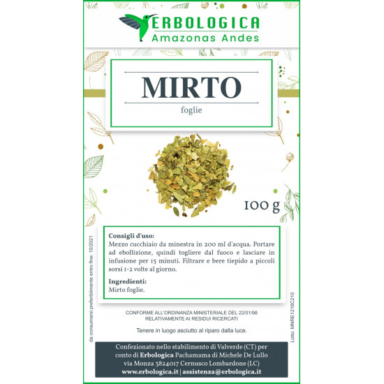 Mirtillo foglie taglio tisana 500 grammi