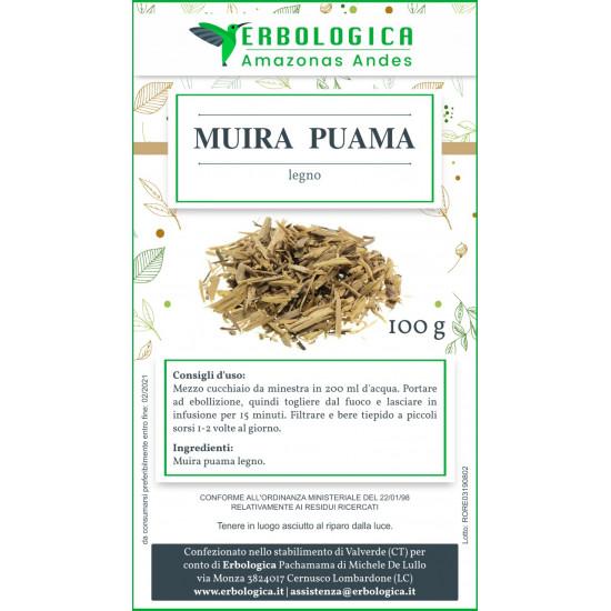 Muira puama legno taglio tisana 500 grammi