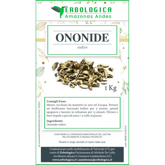 Ononide spinosa radice taglio tisana 500 grammi