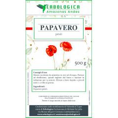 Papavero petali taglio tisana 500 grammi