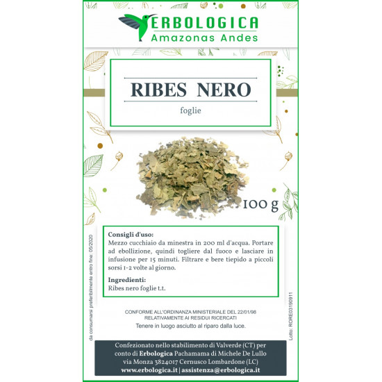 Ribes nero foglie taglio tisana 500 grammi