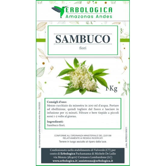Sambuco fiori taglio tisana 500 grammi