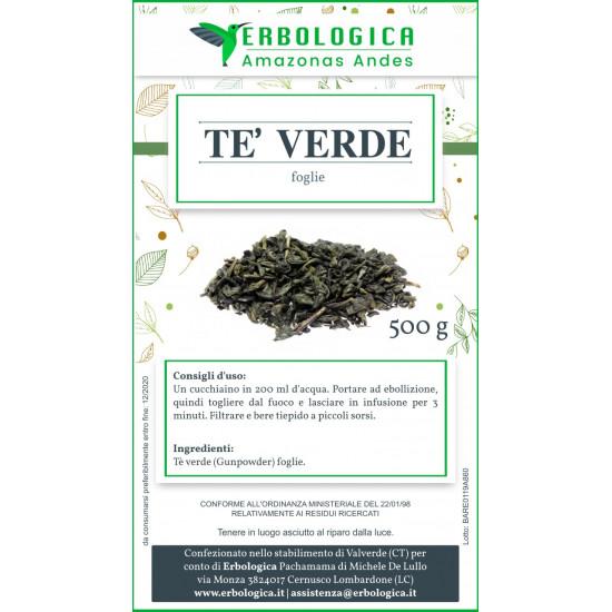 Tè verde Gunpowder 500 grammi