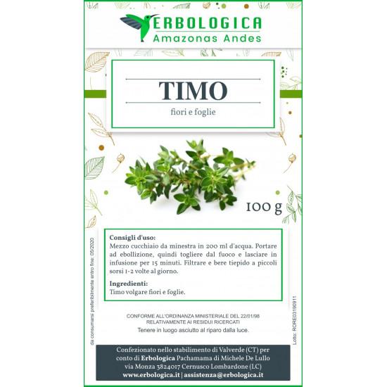 Timo volgare foglie e fiori taglio tisana 500 grammi