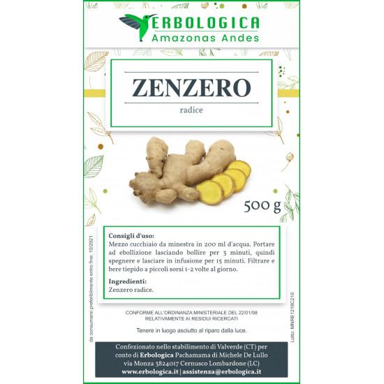 Zenzero rizoma decorticato 500 grammi