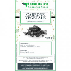 Carbone vegetale polvere 500 grammi uso alimentare