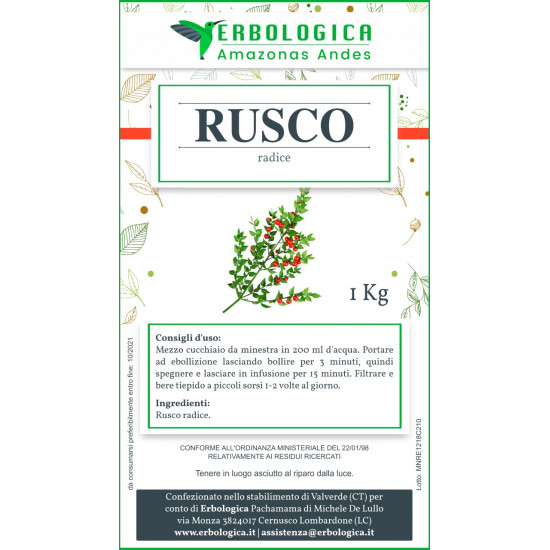 Rusco radice taglio tisana 500 grammi